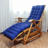 竹躺椅折叠摇摇椅休闲逍遥椅睡椅老人午休午睡实木家用竹椅子 新款无钉加长荡椅(带睡垫) 有头枕款