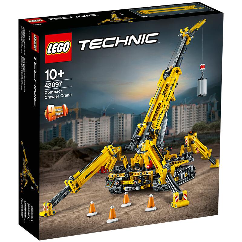 【当当自营】LEGO乐高积木机械组Technic系列42097 10岁+ 精巧型履带起重机 【乐高圣诞倒计时】乐高机械组,够真才有型!创意变换造型,玩出新花样!
