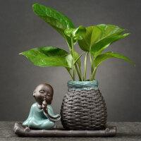 家居客厅装饰品小摆件绿萝水培花瓶水养植物器皿容器鲜花插花盆器