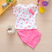 男童女宝宝夏装夏季衣服装婴儿童装4岁短袖套装潮