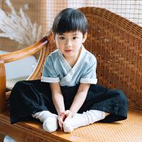 儿童汉服童装男童宝宝改良中国风民族风古装套装男孩国学服装