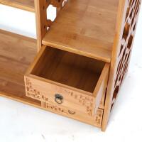 楠竹仿古桌面书架桌上小置物架简易办公桌创意书架收纳架实竹木