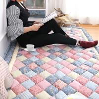 韩式韩国 加厚全棉棉拼布家用地毯卧室满铺床边爬行地垫榻榻米