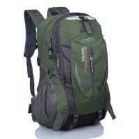 旅行包登山包大学生电脑包超大飞机包商务女式牛津布双肩包书包可 加强版军绿