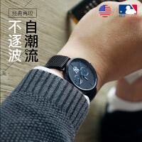 美国MLB男士手表防水时尚款男2018新款 夜光运动超薄学生手表男潮