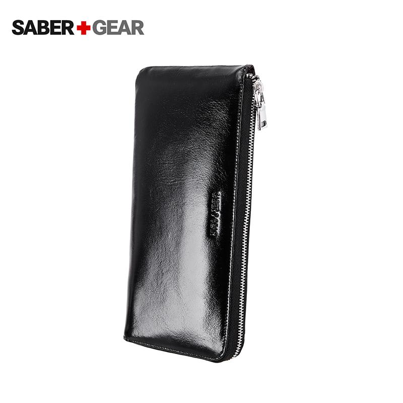 SABER+GEAR男士商务休闲真皮长款钱包出行手拿包卡包BP7407