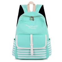 帆布双肩包女韩版小清新初中学生书包高中生女生大容量背包旅行包