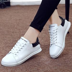 ZHR2017春季新款真皮小白鞋女运动鞋韩版休闲鞋白色板鞋女鞋平底单鞋E70