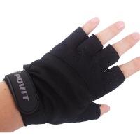 健身手套男士器械训练耐磨防滑运动手套半指防护真皮手套 均码