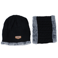 新款秋冬季户外保暖围脖毛线帽男女士韩版针织帽加绒加厚套头帽子