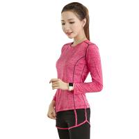 瑜伽服女三件套假两件套装运动速干跑步健身服