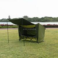 单人全自动离地帐篷 双层防雨车载帐篷 配大天幕钓鱼帐篷