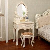 欧式梳妆台卧室化妆桌小法式公主轻奢多功能北欧小户型迷你 组装