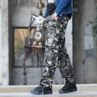 2016新款时尚男士工装裤潮流迷彩裤多口袋男裤