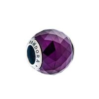 PANDORA潘多拉 皇室紫色几何切割面925银串饰791722NRP