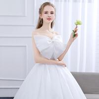 2018新款新娘结婚抹胸简约修身甜美公主齐地轻婚纱