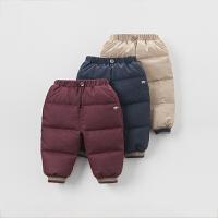 戴维贝拉男童冬季保暖羽绒裤 宝宝加厚羽绒裤子DB4216