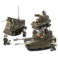 【满200减100】小鲁班装甲兵团军事系列儿童益智拼装积木玩具 联合军事演习M38-B0290