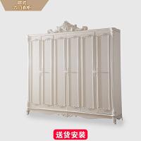欧式实木衣柜推拉门简易现代简约版式五门木质组装卧室衣橱 以上 组装