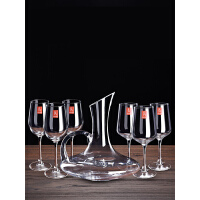 【支持礼品卡】红酒杯套装家用水晶6只装大号葡萄杯架欧式醒酒器玻璃高脚杯酒杯s5b