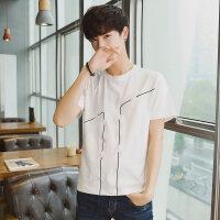 韩版男士圆领短袖T恤小清新潮牌男装新款休闲打底衫体恤上衣服