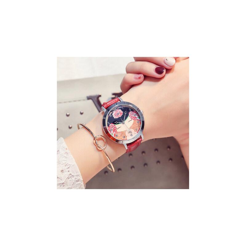 韩版石英表皮带时装表女士表 女款古典风潮流复古手表学生表 品质保证 售后无忧