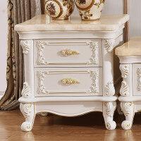 欧式大理石边几 客厅沙发实木边柜角桌小方桌迷你方几AC20
