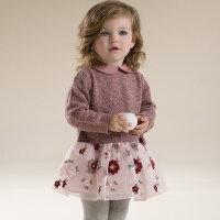 davebella戴维贝拉女童装秋季新款长袖连衣裙 宝宝裙子27031