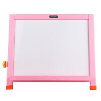 得力deli画板 桌面型双面儿童画板 写字板 400*320mm 粉色