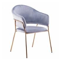 北欧椅子欧式酒店餐椅后现代简约化妆椅轻奢铁艺奶茶店椅
