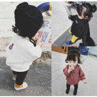 女宝宝加绒卫衣2017秋冬装新款韩版儿童上衣婴幼儿加厚保暖打底衫