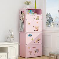 简易塑料小型迷你学生儿童收纳柜组装单人宿舍婴儿用租房小号衣柜