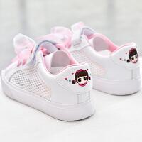 女童小白鞋夏童鞋透气儿童鞋幼儿园运动网鞋凉鞋白