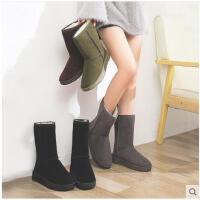 雪地靴女新款冬季百搭韩版棉鞋学生加厚防水加绒保暖中筒靴子