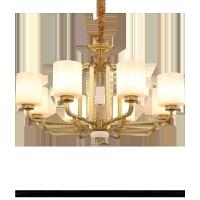 新中式客厅吊灯中国风餐厅卧室全铜大气家用简约大厅创意灯饰灯具