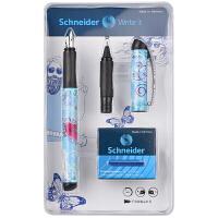德国进口施耐德(Schneider)钢笔 Heart心语款钢笔 走珠笔套装(F尖钢笔+6个墨胆+走珠笔头)签字笔水笔经