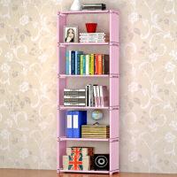 简易书架 简约家居加高简易书架自由组装儿童收纳书柜储物柜