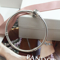 PANDORA潘多拉 Moments 银扣925银手链590702HV 蛇形基础链 经典款