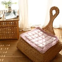 绗缝坐垫馒头垫加厚坐垫防滑 韩式田园椅子垫飘窗坐垫
