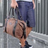 男士手提包 休闲帆布包单肩斜挎包包 运动健身时尚男包潮