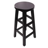 实木吧台椅子北欧高脚家用圆高凳子收银台前台酒吧凳简约