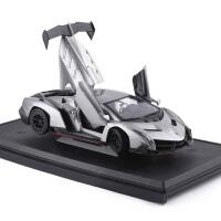 1:24兰博基尼毒药Veneno Roadster跑车合金汽车模型玩具