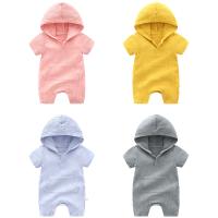 婴儿连体衣女衣服婴儿男女宝宝0岁3个月夏季满月哈衣爬服