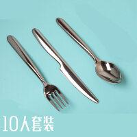 【支持礼品卡】一次性牛排刀叉塑料餐具西餐三件套仿不锈钢勺生日派对餐具r9s