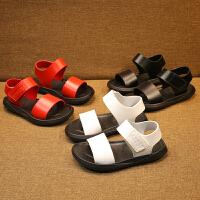 夏季沙滩小童鞋男宝宝凉鞋软底露趾学步鞋女1-2-3岁