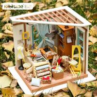 若态 3d立体拼板木质diy小屋创意礼物纯手工拼装丽莎的裁缝店玩具