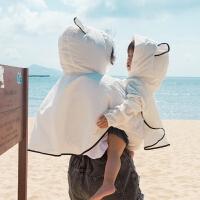 蓓莱乐婴儿亲子装一家三口装春夏装新款全家母女装夏季防晒服外套