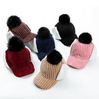 护耳灯芯绒棒球帽男童1-5岁防风防寒加厚儿童帽保暖鸭舌帽女
