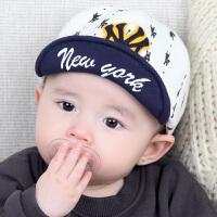 春秋夏薄款婴儿帽子宝宝帽子新生儿遮阳帽儿童鸭舌帽男婴儿棒球帽