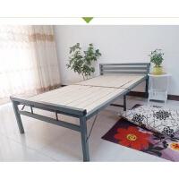 折叠床单人床木板床午休床铁艺床用简易床陪护床实木午睡床